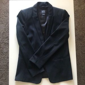 Armani Exchange Size 10 Black Blazer
